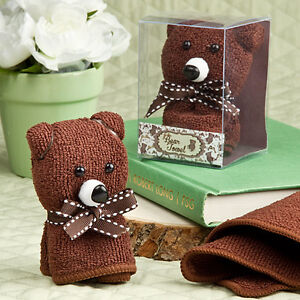 Image Is Loading Adorable Brown Bear Hand Towel Cute Baby Shower