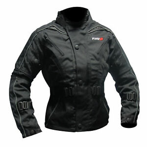 Negro Tuzo textil impermeable Chaqueta Kids blindada Moto Motorcycle 0Bnq6