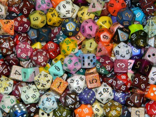 1//4 Pound Of Chessex Polyhedral Dice w// Full Set of Wiz Dice in Bag D/&D RPG Lot