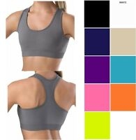 Racerback Sports Bra Seamless Basic Stretch Whimsy Tank Top Onesize S M L
