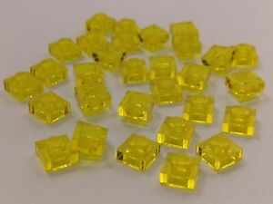 Bulk Lot Lego Part No.3024 Qty x 30 Transparent Plate 1 x 1