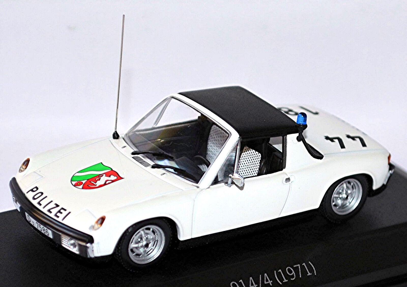 Porsche 914 4 Polizei Polizei Polizei 1971 German Police 1 43 Minichamps  | Bevorzugtes Material  5dfae5