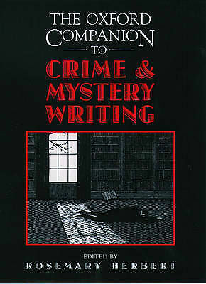 Oxford Companion to Crime and Mystery Writing-ExLibrary