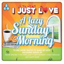 3 CD BOX I JUST LOVE A LAZY SUNDAY MORNING SINATRA BENNETT WILLIAMS KING COLE