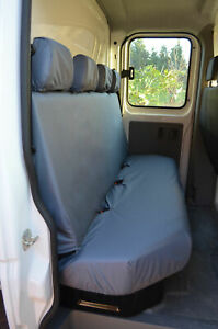 Tailored Waterproof Black Rear Chassis Cab Seat Covers Vauxhall Movano 2010
