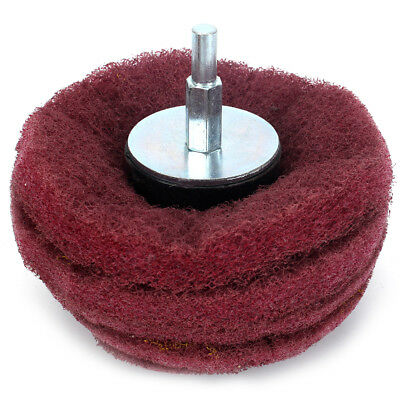 2//3//4 Inch Dome Mounted Sanding Mop Polishing Pad Wheel For Metal Polish 320#