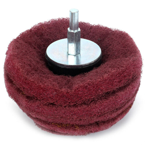 50-100mm Dome Mounted Sanding Mop Polishing Pad Wheel For Buffing Shank 6mm 320#