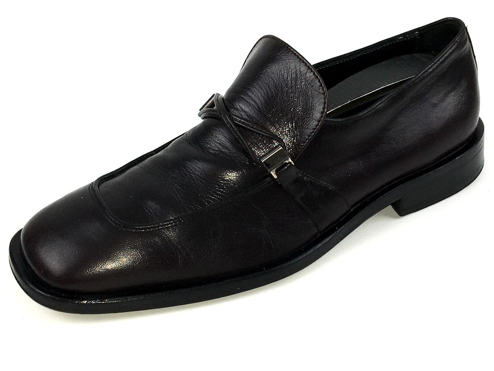 Hugo Boss negro Mocasines Cuero Marrón Vestido Zapato De Hombre EE. UU.