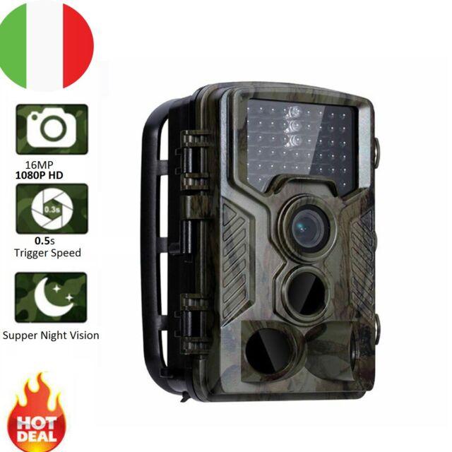 1080P HD FOTOTRAPPOLA MIMETICA CACCIA VIDEOCAMERA IR VISIONE NOTTURNA IP56