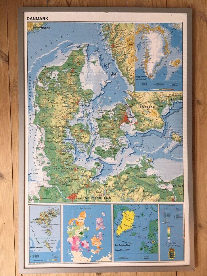 Opslagstavle, Danmarkskort