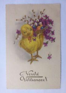 """"""" FETES DE PAQUES- Poussin- Korb- oeufs de Pâques- fleurs """" 1936 (59527) uzWmg1Ds-09092753-939395217"""