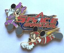 Disney Pin Badge HKDL - Space Mountain - Mickey and Minnie Mouse