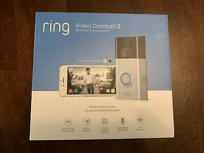 Alexa Certified By Amazon Ring Video Doorbell 2-8VR1S7-0EN0 Satin Nickel