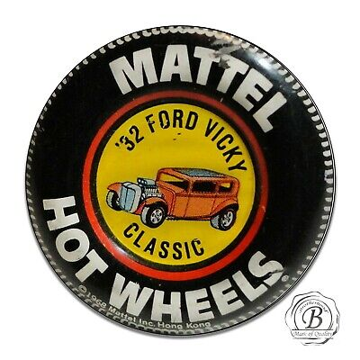 Hot Wheels 32 Ford Vicky Collectors Badge Reproduction Circle Aluminum Sign