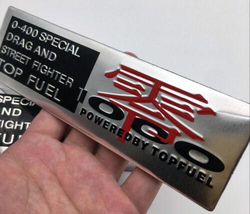 0-400 Drag Top Fuel Racing Powered Badge Emblem Sticker Car Motorcycle Truck MT