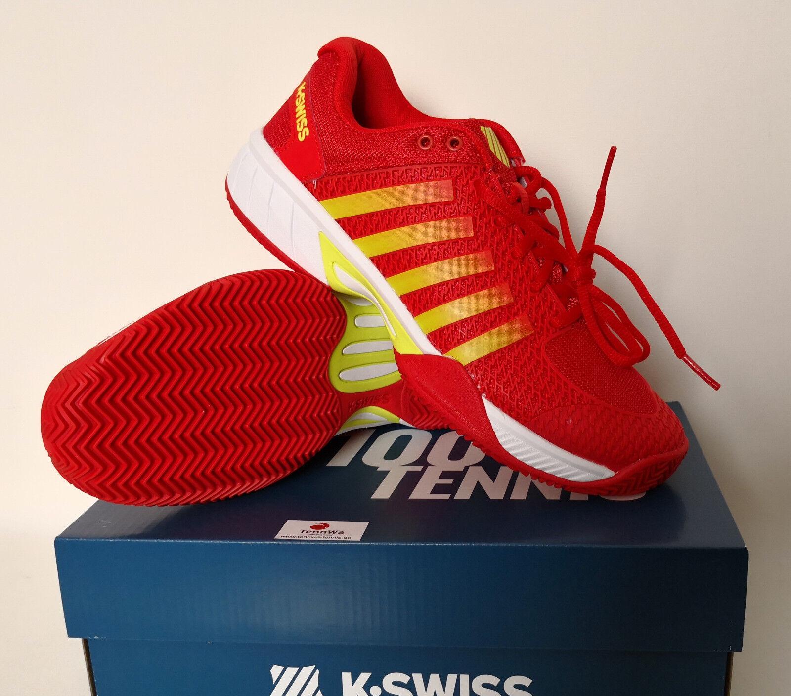 K-Swiss Express Express Express Light HB rot gelb, Damen Tennisschuhe mit Claysohle,    bfd544