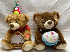"3 SOFT PLUSH TEDDY BEAR FAMILY COLLECTION SET OF THREE ~ 4-1//2/"" 12/"" 8-1//2/"""