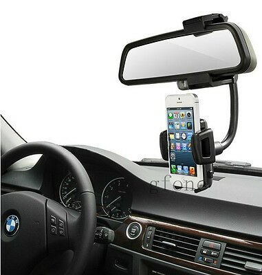 Car Rearview Mirror Mount Holder Charger for 4.7'' iPhone6 5 5S 5C GPS Galaxy S4
