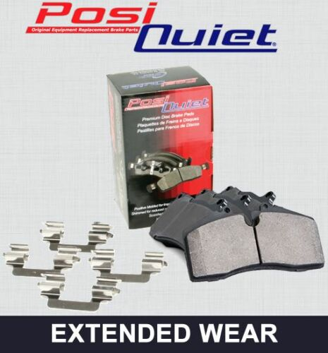 REAR SET Posi Quiet Extended Wear Brake Disc Pads + Hardware Kit 106.05800