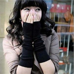Winter-Wrist-Arm-Hand-Warmer-Knitted-Long-Fingerless-Gloves-Mitten-For-Women-EF