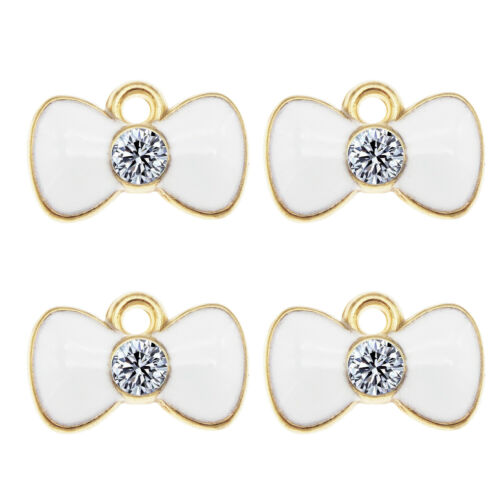 16PCS//Pack Enamel Mixed Assorted Bow-knot Bow-tie Charms Pendant DIY Findings