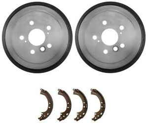 Rear Brake Drums Shoes Spring Kit Wheel Cylinder fits 2002-2004 Toyota Camry