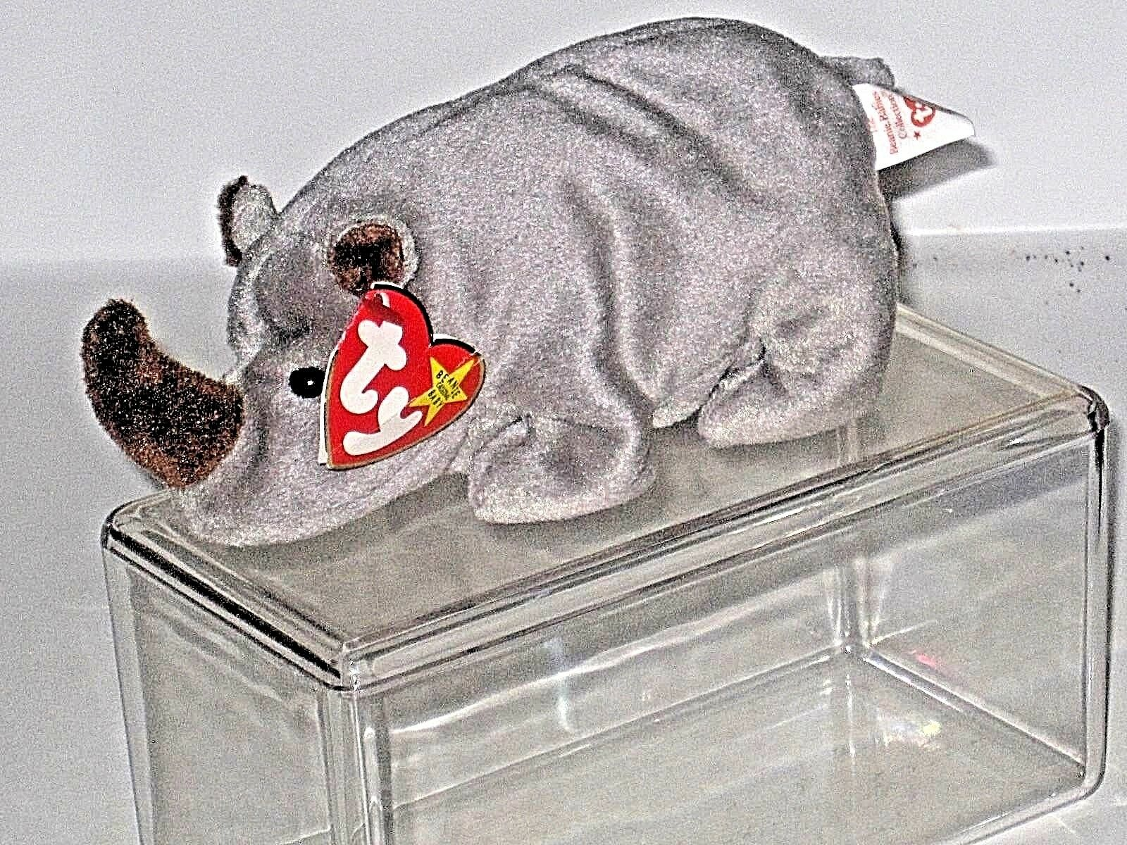 Ty beanie baby spike p e pellets im ruhestand tags selten 1996