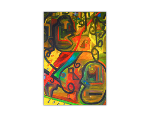 Abstract Dinner and Music Poster Glossy Print Wall Art Decoration