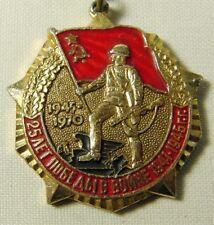 Original Soviet Russian Veteran Medal 25 Yrs of Victory 1945-70 WWII + Document