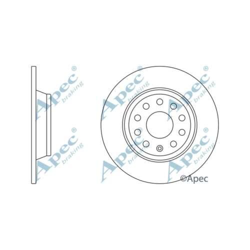 Si adatta VW TIGUAN 5N 2.0 TDI 4 Motion Genuine Apec Dischi Freno Posteriore Tinta Unita impostato