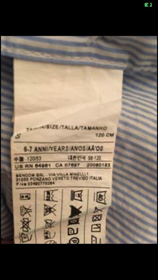 Skjorte, Benetton skjorte, Benetton