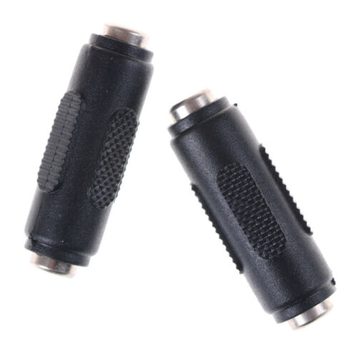 1 Pcs 2.1mm x 5.5mm Female to Female DC Power Socket Audio Adapter Connector*IJ