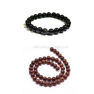 Obsidienne-6-8-10mm-10-ou-100-Perles-et-Couleurs-au-choix