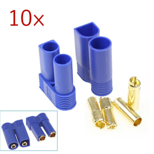 10Pairs EC5 Device Connector Plug for RC Car Plane Helicopter Battery Lipo STOCK