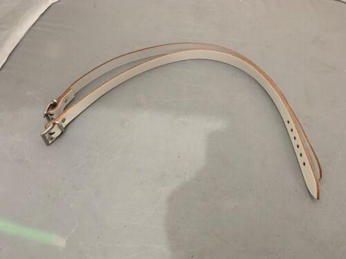 2 X Genuine SILVER CROSS Landau Vert Long centre de Suspension Sangles En Cuir 700 mm