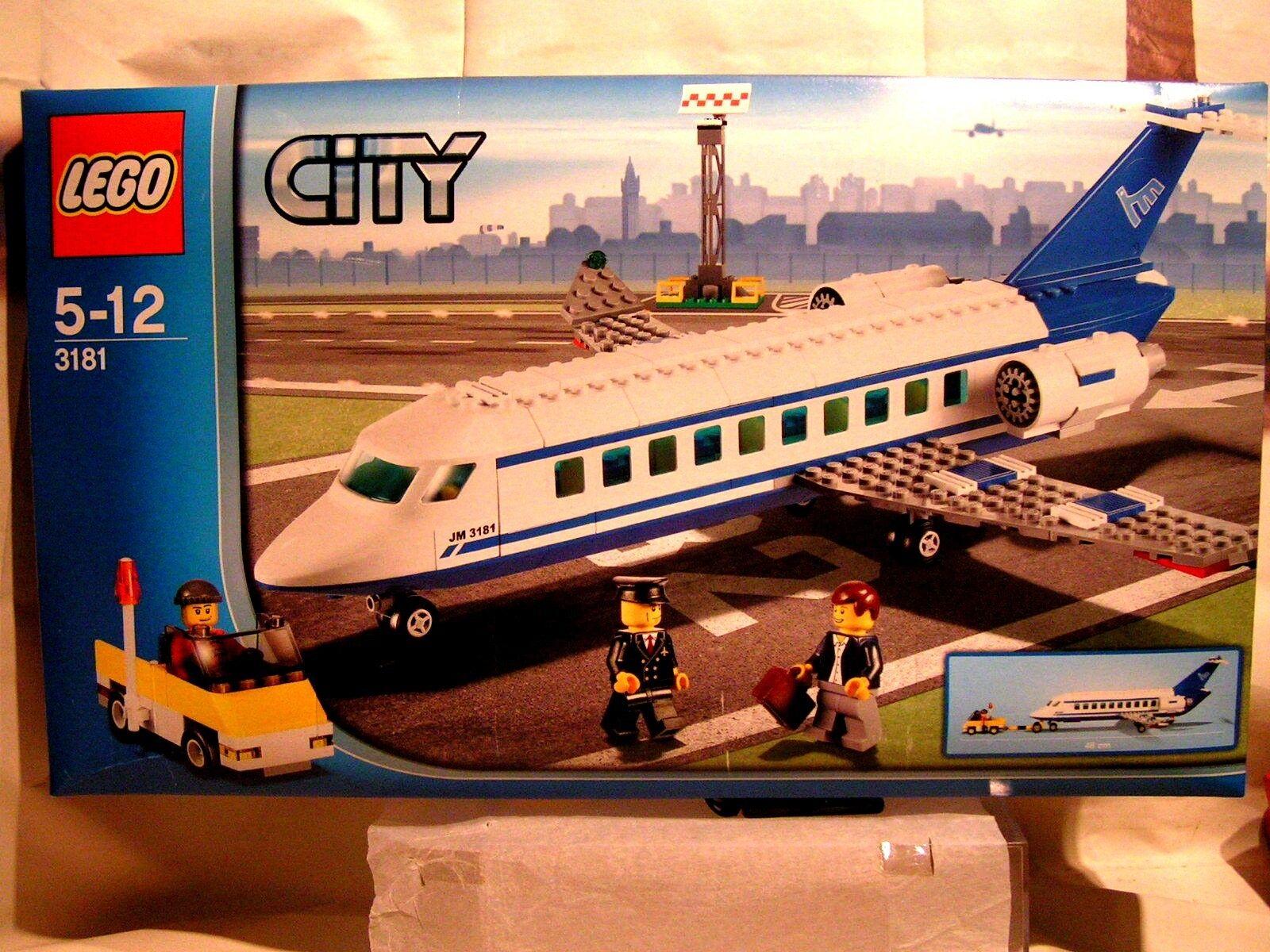 LEGO CITY   -   AVION DE PASSAGER BI-REACTEUR  EN BOÎTE SCELLEE (ref 3181)