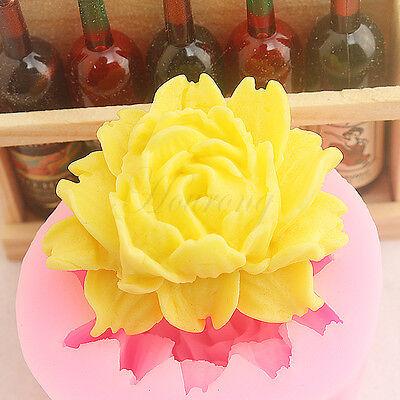 Big Rose Flower Silicone Fondant Mold Cake Decoration Chocolate Sugarcraft Mould
