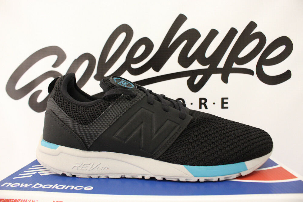 NEW BALANCE 247 BLACK CHARCOAL GREY TEAL WINTER KNIT RUNNING MRL247KB SZ 9