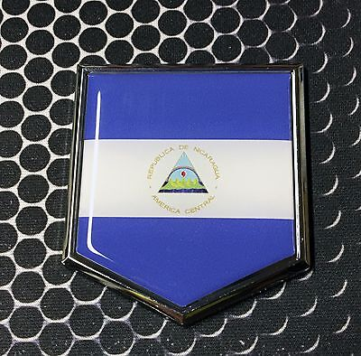 Sticker Nicaragua Resin Domed Stickers Nicaragua Flag 3D Vinyl Adhesive Decal
