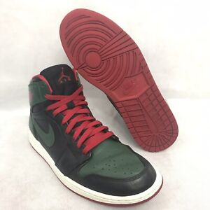 460d4e30381 Nike Air Jordan 1 Retro 332550-025 Black/Gym Red-Gorge Green 11 | eBay