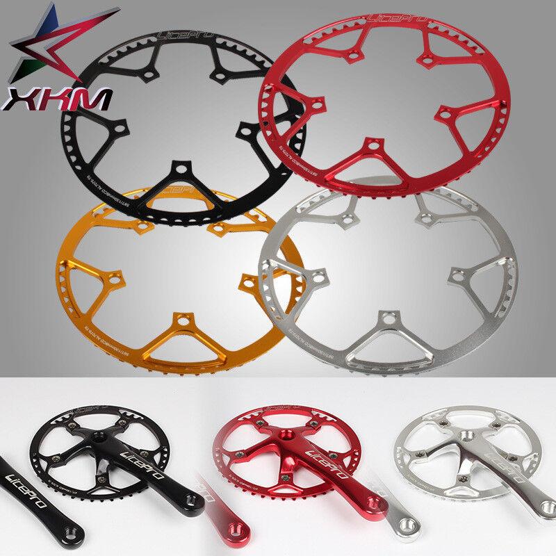 Litepro Aluminum Bike Crank 130BCD Round Chainring Cranksets 45T 47T 53T 56T 58T