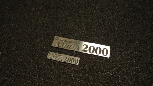 Aufkleber Sticker Amiga 2000 Label Badge 250 Logo Silver 90mm x 20mm