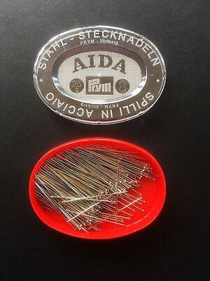 Prym - Pins - ø0.6 X 34mm - Hardened Stee L- 25g - Aida - Design-surgery® Noch Te Hard Noch Te Zacht