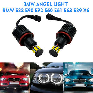 No-Error-H8-60W-CREE-LED-Angel-Eye-Halo-Light-Bulb-BMW-E82-E90-E92-E60-X5-X6-Z4