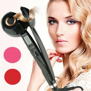 Automatisch Curl&Straight Hair Glätteisen Lockenstab Lockenwickler Keramik DE