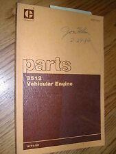 CAT Caterpillar 3512 PARTS MANUAL BOOK CATALOG ENGINE VEHICULAR DIESEL 51Y1 & UP
