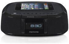 Memorex Bluetooth Wireless Alarm Clock Speaker FM Radio USB iphone Charger MW453