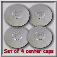 2003-2004 Chrome Cadillac Escalade Wheel Center Caps Replica Hubcaps Set Of 4