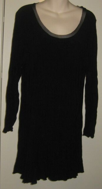MOTTO Brand Size 12/14 Black Long Sleeve Dress