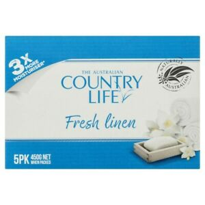 Country Life White Fresh Linen Soap 5pk